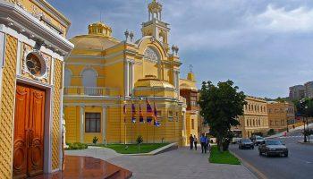 Азербайджанская филармония - достопримечательности Баку