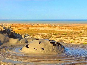 Грязевые вулканы - достопримечательности Баку